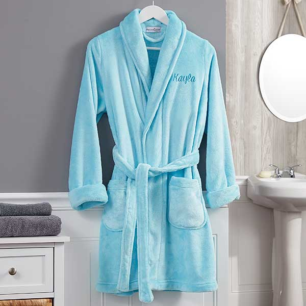 Classic Embroidered Short Fleece Robe - Custom Allstars