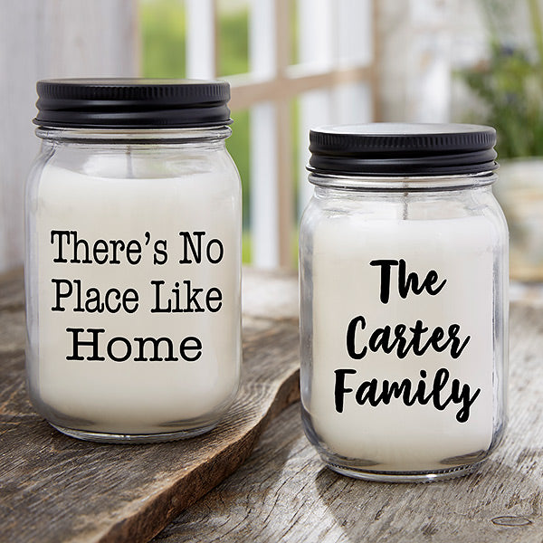 Write Your Own Expressions Personalized Farmhouse Candle Jar gift - Custom Allstars