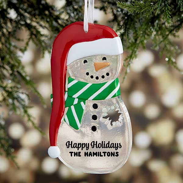 Melt Your Heart Personalized Snowman Ornament - Custom Allstars