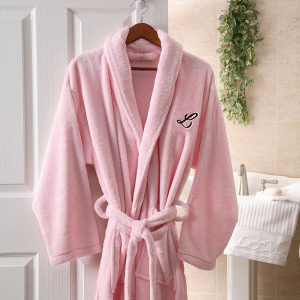 Embroidered Luxury Fleece Robe- Pink - Custom Allstars