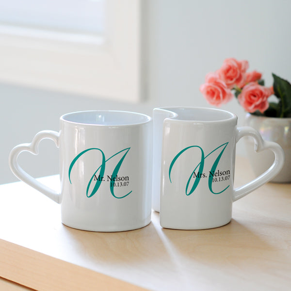 Personalized Initial Mugs (Set of 2) - Custom Allstars