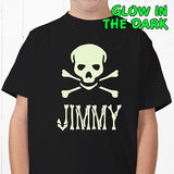 Glow-in-the-Dark Skull- Youth T-Shirt gifts - Custom Allstars