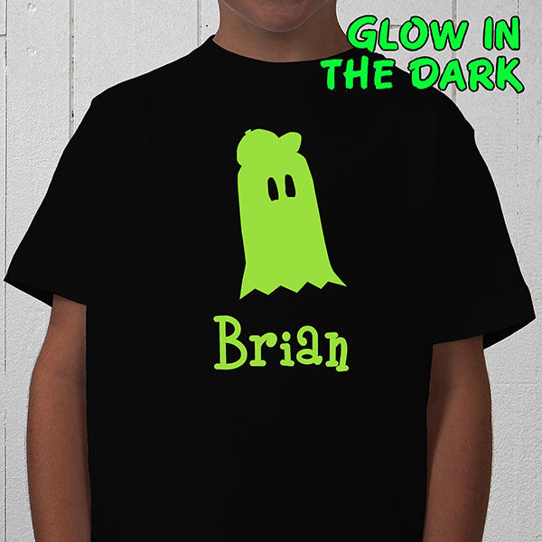 Glow-in-the-Dark Ghost- Youth T-Shirt gift - Custom Allstars
