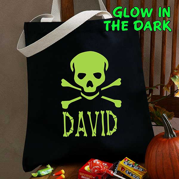 Glow-in-the-Dark Skull Treat Bag gift - Custom Allstars