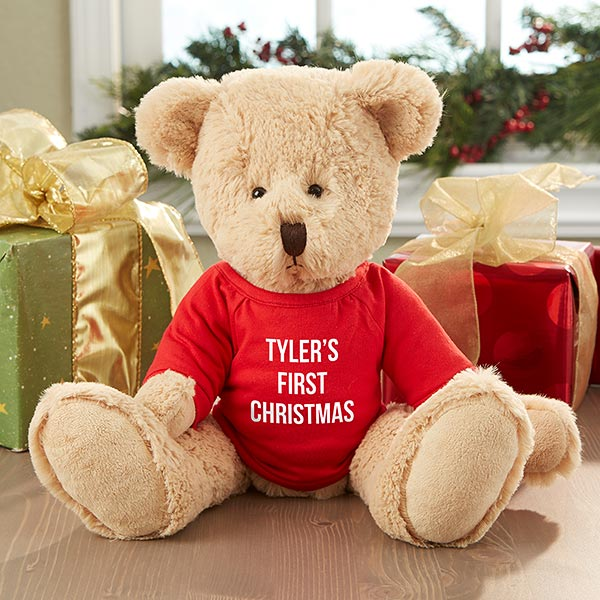 First Christmas Personalized Teddy Bear gift - Custom Allstars