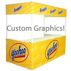 8' w Portable Event Booth Tent, Includes Custom Graphics (x2020) - Custom Allstars
