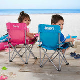 Toddler Personalized Blue Folding Camp Chair - Custom Allstars