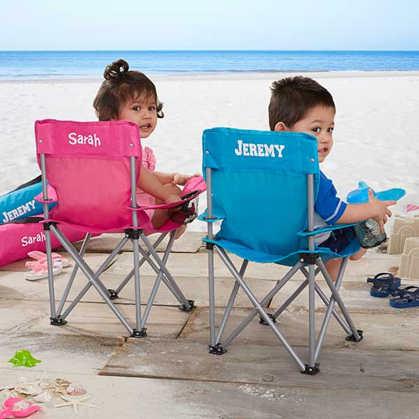 Toddler Personalized Pink Folding Camp Chair - Custom Allstars