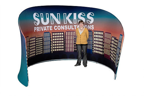 7.5' Curved Trade Show Display w/ Custom Printed Graphics, Portable (x2020) - Custom Allstars