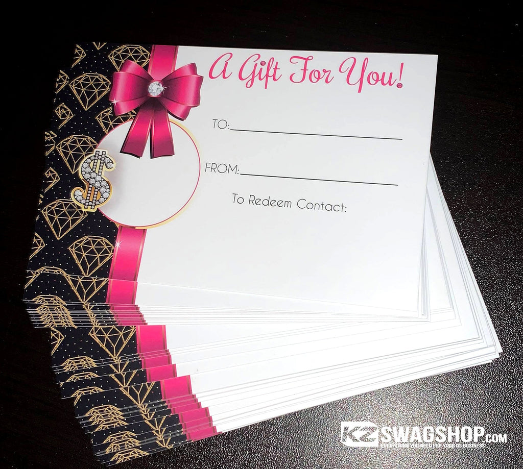 Bling Gift Certificates Pack of 75