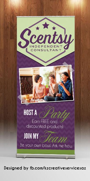 Scentsy Retractable Banner - Style 1