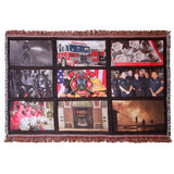 "Custom 9-Panel Throw Rug-35"" x 54""-(any 9 pictures) gift - Custom Allstars"
