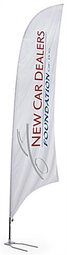 17' Custom Feather Flag with Car Foot Base - 3 Color Printing (x2020) - Custom Allstars