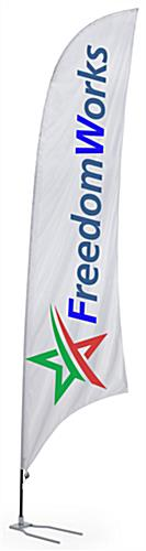 Custom Feather Flag with Car Foot Base - Full Color Printing (x2020) - Custom Allstars