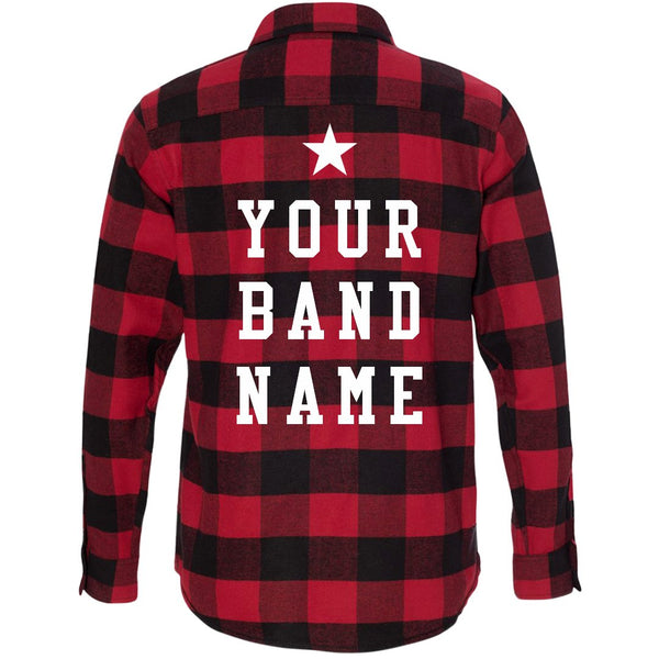 CUSTOM BAND MERCH FLANNEL - Custom Allstars