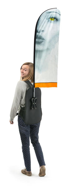 "Backpack with 48"" Banner, Double-sided Custom Graphics (x2020) - Custom Allstars"
