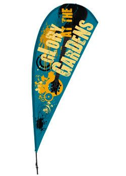 11' Custom Teardrop Flag with Ground Spike - Full Color Digital Printing (x2020) - Custom Allstars