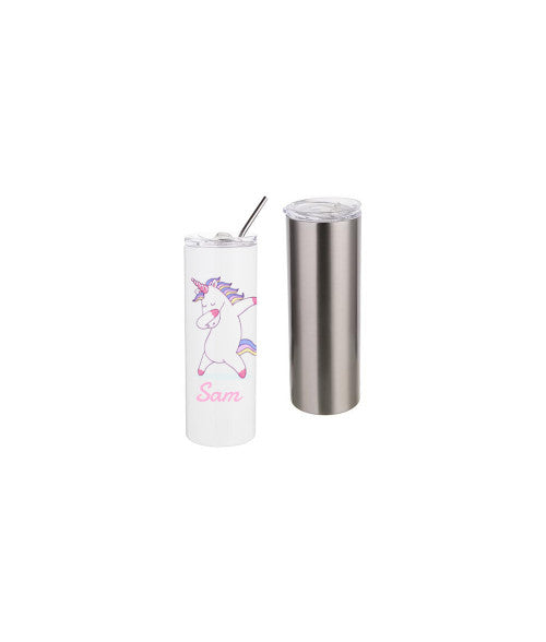 20OZ STAINLESS STEEL TUMBLER WITH STRAW & LID (x2020) - Custom Allstars
