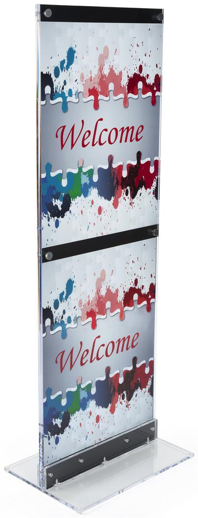 "22"" x 28"" Acrylic Poster Stand w/ UV Print, Double Sided - Clear (x2020) - Custom Allstars"
