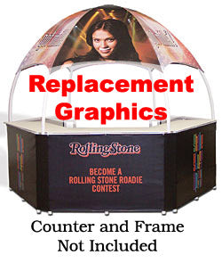 Replacement Graphics For GZ103 Portable Event Booth - Custom Printed (x2020) - Custom Allstars