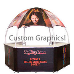 10' w Portable Event Booth Tent, Includes Custom Graphics (x2020) - Custom Allstars