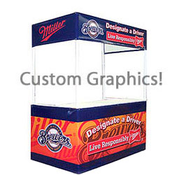 6' w Portable Event Booth Tent, Square, Includes Custom Graphics (x2020) - Custom Allstars