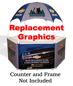 Replacement Graphics For GZ83 Portable Event Booth - Custom Printed (x2020) - Custom Allstars
