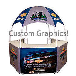 8.5' w Portable Event Booth, Includes Custom Graphics (x2020) - Custom Allstars