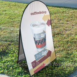 "39""w Outdoor Pop Up A-Frame Sideline Banner - Custom Printed Graphics (x2020) - Custom Allstars"