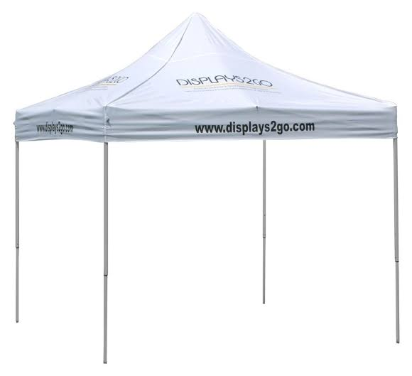 10 x 10 Outdoor Canopy Tent with 8 Custom Imprints, Pop-up, Square - White (x2020) - Custom Allstars