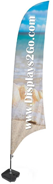 Custom Feather Flag with Fillable Water Base - Full Color Digital Printing (x2020) - Custom Allstars