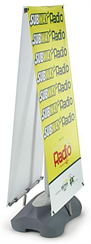 Double-sided Banner Stand with (2) Custom Graphics, Adjustable Width & Height (x2020) - Custom Allstars