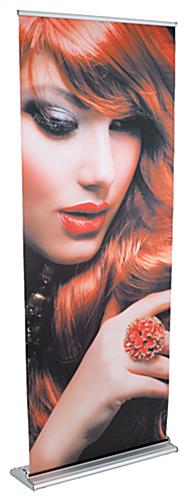 "Retractable Banner Stand with Custom Printed 31"" x 82"" Graphic - Silver (x2020) - Custom Allstars"