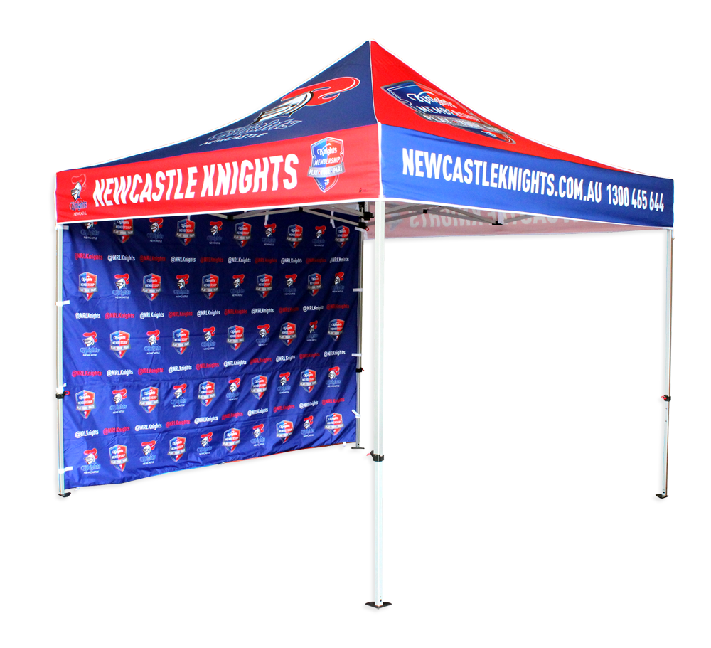 Custom 10 x 10 Pop Up Canopy  Trade show banner (top and hardware only) - Custom Allstars