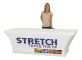 Stretch quality Polyester fully printed table cloth banner trade