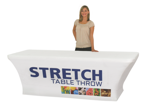 Stretch quality Polyester fully printed table cloth banner trade - Custom Allstars
