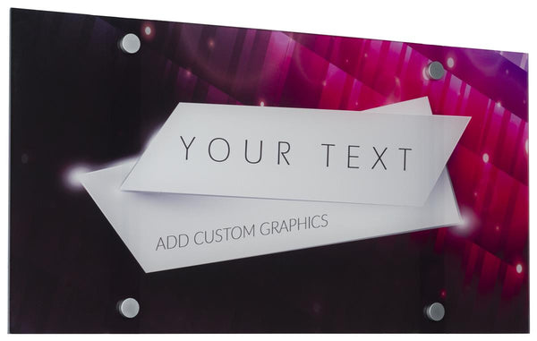"Workshop Series 23"" x 12"" Acrylic Sign, Custom UV Print, 4 Standoffs - Clear (x2020) - Custom Allstars"