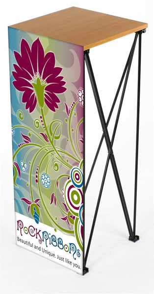 Portable Podium Stand with Custom-Printed Banner Graphic (x2020) - Custom Allstars
