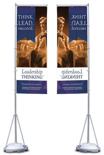 13' Banner Flag Stand with Full Color Custom Printing, Single-sided (x2020) - Custom Allstars