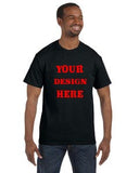 Your design - Custom Printed Gildan Unisex Heavy Cotton T-shirts - Custom Allstars