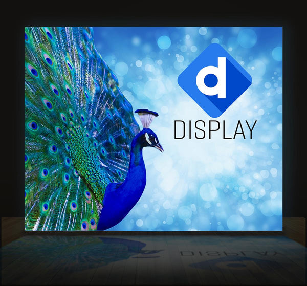 20'w Backlit Trade Show Backdrop w/ Custom Printed SEG Graphics, Single Sided (x2020) - Custom Allstars