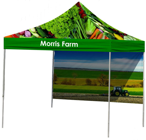 10 x 10 Outdoor Canopy Tent, Custom Printed Canopy, Valance & Back Wall - Full Color (x2020) - Custom Allstars