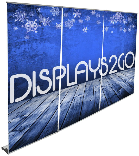 Set of 3 Retractable Banner Stands for Custom Printed 12' x 8' Graphic Wall - Silver (x2020) - Custom Allstars