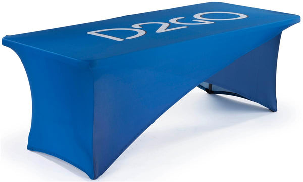 8' Stretch Table Cover, Cross Over Design – Custom Graphics (x2020) - Custom Allstars