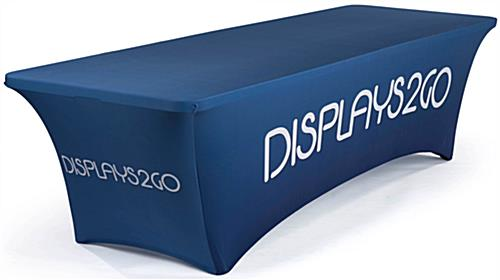 4' Stretch Table Cover, Full Back & Zipper – Custom Graphics (x2020) - Custom Allstars