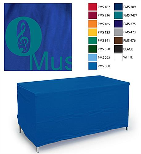 Convertible 8' or 6' Table Cover with 1 Color Custom Imprint - Blue (x2020) - Custom Allstars