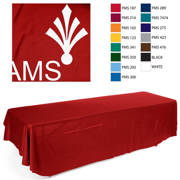 8' Table Cloth with 1 Color Imprint - Red (x2020) - Custom Allstars