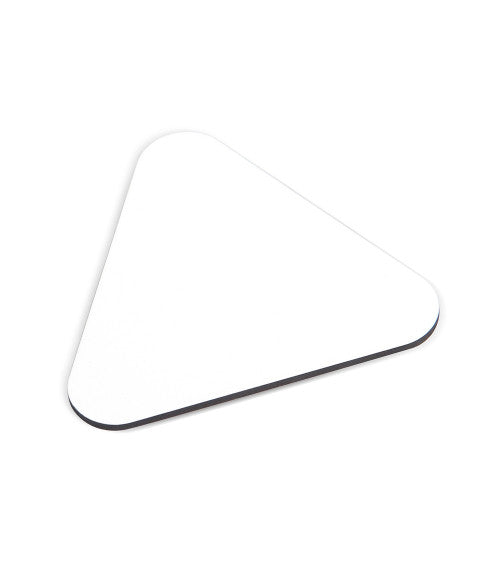 "MATTE WHITE 4"" X 4"" TRIANGLE COASTER (x2020) - Custom Allstars"