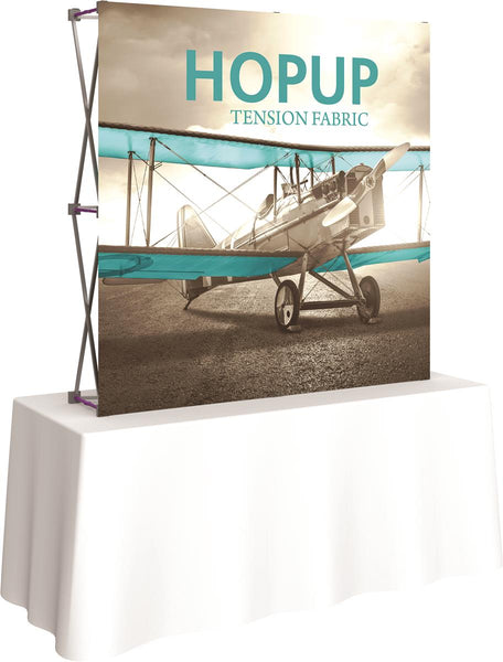 "60"" Square Tabletop Display Board w/ Custom Printed Graphics Wrap, Hopup Collapsible (x2020) - Custom Allstars"