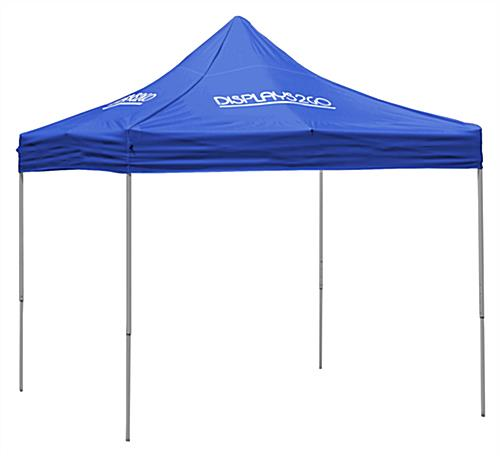 10 x 10 Outdoor Canopy Tent with 4 Custom Imprints, Pop-up, Square - Blue (x2020) - Custom Allstars